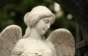 angel with a female face